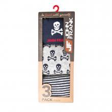 Комплект мужских носков JOHN FRANK, 3 пары NAVY