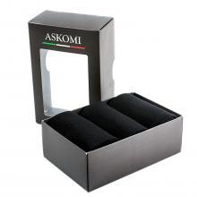 Комплект из 3 пар хлопковых мужских носков ASKOMI черные