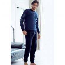 Пижама мужская ENRICO COVERI темно-синяя
