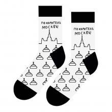 Носки unisex St. Friday Socks ПОКОРИТЕЛЬ МОСКВЫ, белые