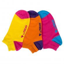 Комплект из 3 пар коротких unisex носков St. Friday Socks фуксия / оранжевый / желтый