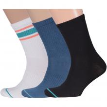 Комплект из 3 пар мужских спортивных носков Flappers Peppers микс 26