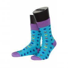 Мужские носки из мерсеризированного хлопка ASKOMI БИРЮЗОВЫЕ