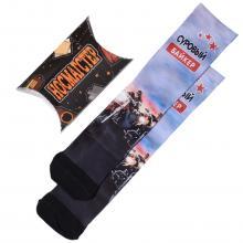 Мужские носки в подарочной упаковке НОСМАГСТЕР с принтом  Суровый байкер