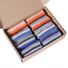 Набор женских укороченных носков из хлопка, 8 пар (ТМ Grinston) микс