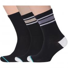 Комплект из 3 пар мужских спортивных носков Flappers Peppers микс 27