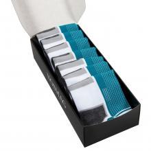 Набор из 7 пар спортивных носков (Гранд Сокс) бирюзовые