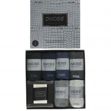 Комплект из 6 пар мужских антибактериальных ароматизированных носков с мылом (DMDBS) микс