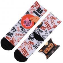 Молодежные носки в подарочной упаковке НОСМАГСТЕР с принтом  Зачет