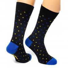 Носки unisex St. Friday Socks Friday Owl черные с синим и желтым