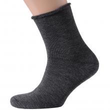 Мужские махровые носки без резинки ХОХ СЕРЫЕ