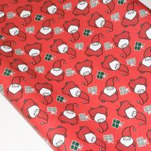 Упаковка 1 кейса в подарочную бумагу  Красный Санта