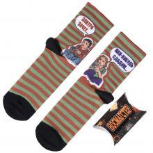 Молодежные носки в подарочной упаковке НОСМАГСТЕР с принтом  Как-нибудь сдадим