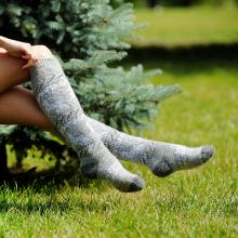 Женские шерстяные гольфы (Бабушкины носки) СЕРЫЕ