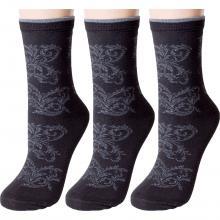 Комплект из 3 пар женских носков RuSocks (Орудьевский трикотаж) ЧЕРНЫЕ