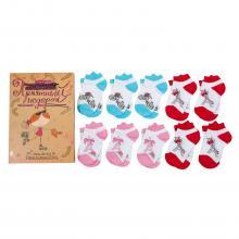 Набор из 10 пар носков для девочек  Приятный подарок  (RuSocks) микс