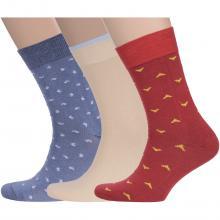 Комплект из 3 пар мужских носков Flappers Peppers микс 21
