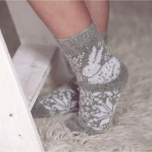 Детские шерстяные носки (Бабушкины носки) СЕРЫЕ