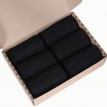 Набор мужских носков из мерсеризованного хлопка,  6 пар  (ТМ Grinston socks) черные
