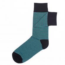 Мужские носки Нева-Сокс №НС02 COLUMBUS, черно-бирюзовые