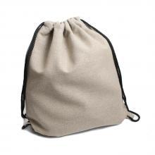 Однотонный льняной рюкзак-мешок (без надписи)