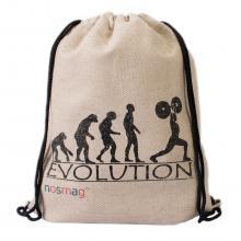 Льняной мешок с принтом  Evolution