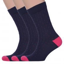 Комплект из 3 пар мужских носков Classic (Palama) СИНЕ-РОЗОВЫЕ