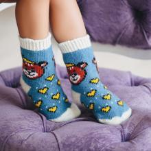 Детские шерстяные носки (Бабушкины носки) ГОЛУБЫЕ