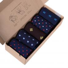 Набор из 5 пар мужских носков (НЕВА-Сокс) микс  СЕВЕРНЫЙ ВЕТЕР