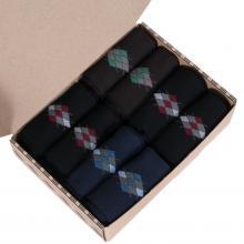 Набор мужских носков из мерсеризованного хлопка, 8 пар  (ТМ Grinston) микс
