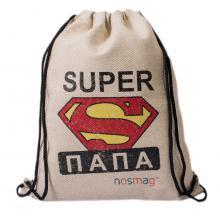 Набор носков «Бизнес» 20 пар в мешке с надписью «SUPER папа»