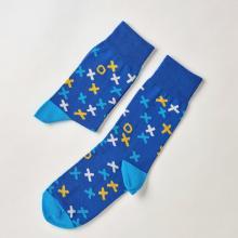 Носки unisex St. Friday Socks Как всегда выигрывать в крестики нолики. Синяя версия