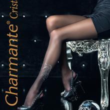 Колготки женские Charmante чёрный/серебром