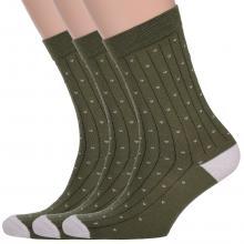 Комплект из 3 пар мужских носков Classic (Palama) ТЕМНО-ЗЕЛЕНЫЕ