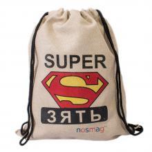 Набор носков  Бизнес  20 пар в мешке с надписью  SUPER зять