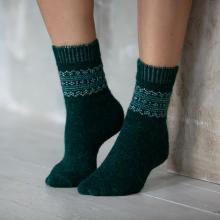 Женские шерстяные носки (Бабушкины носки) ЗЕЛЕНЫЕ